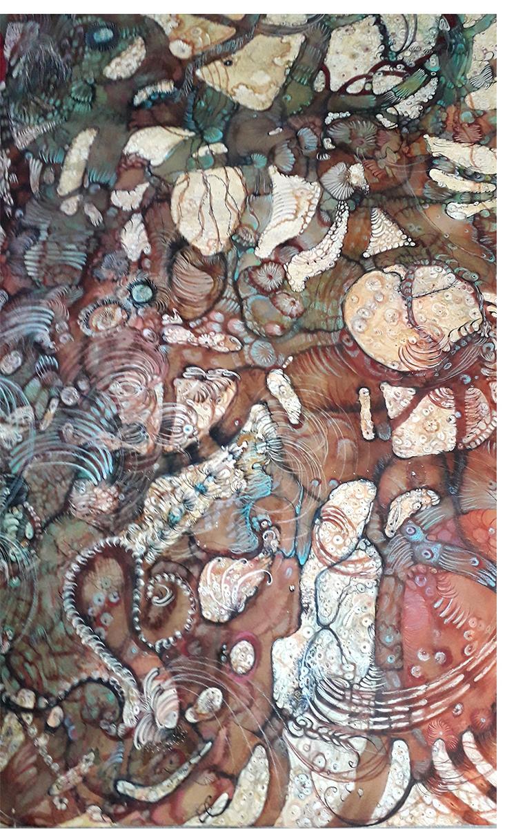 """Water Spells"" 100cm x 81xm, Izabella Ortiz"