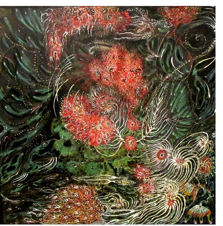 """Water Memories"" 2020, 29cm x 29cm, Izabella Ortiz"