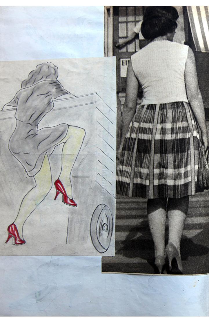 """Anon. Fetish Artist - """"2 Rears"""" - 20 x 30cm"""