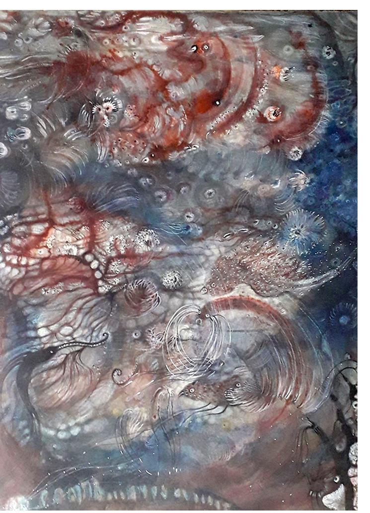 """Water Memories"", 2019, 83cm x 60cm, Izabella Ortiz"
