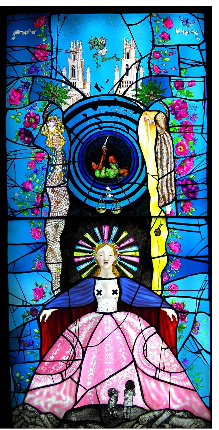 Pinkie Maclure:'Beauty Tricks', Stained Glass
