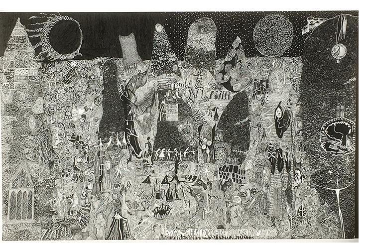 Nick Blinko, 'Untitled' 2018. Ink. - 11.5 x 16.5 ins