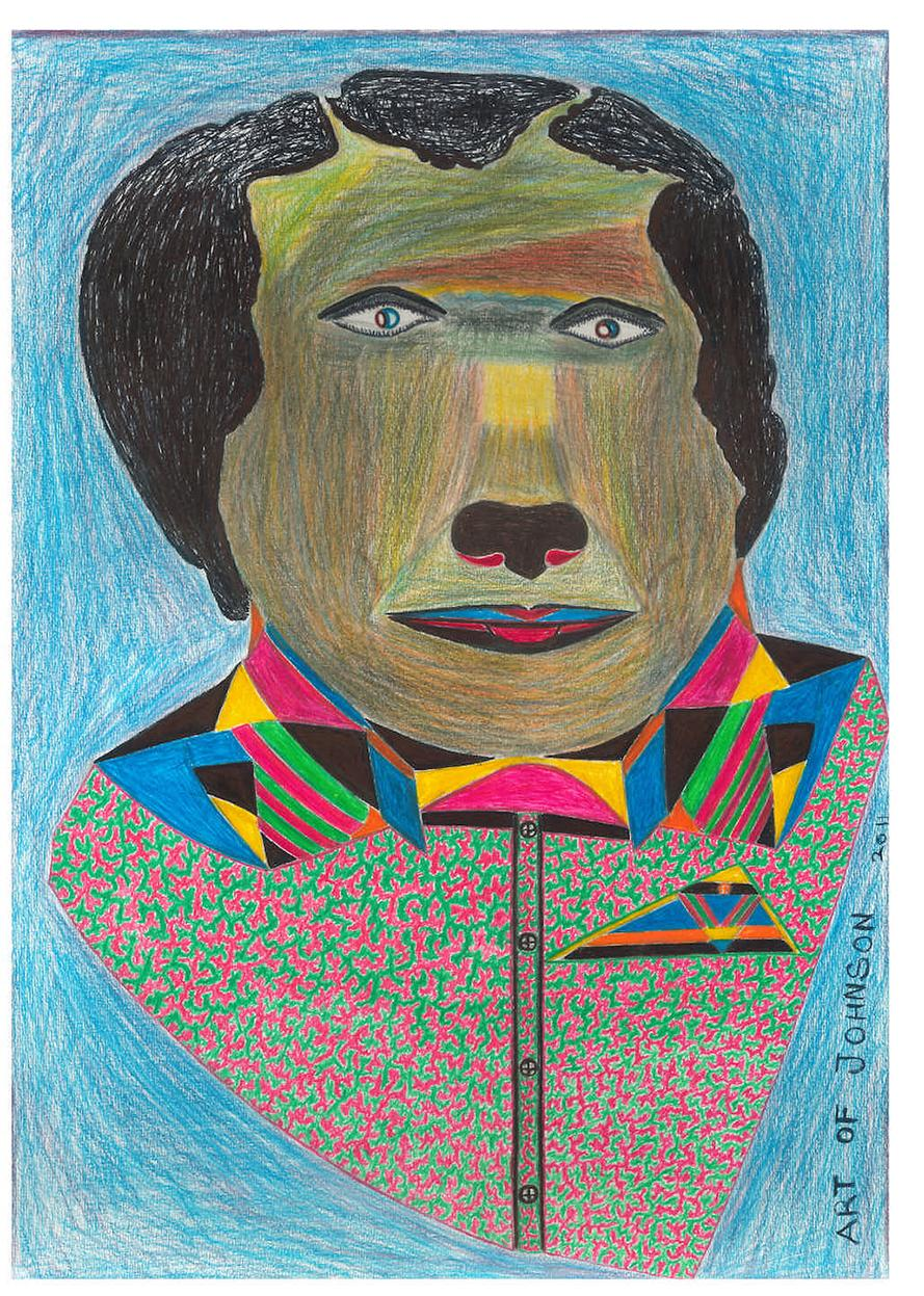 untitled (054), 2011 pencil and crayon on paper 42 x 29.6 cm