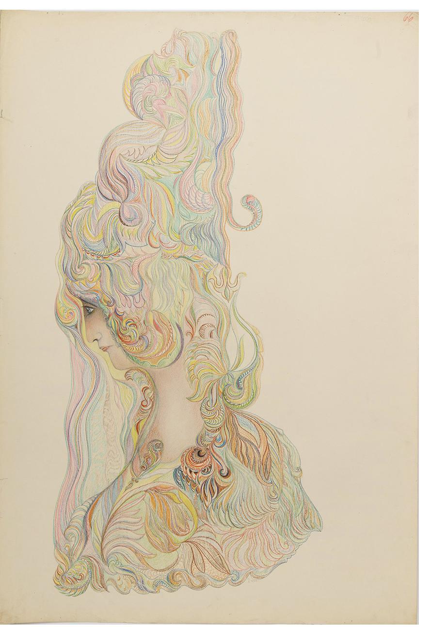 František Jaroslav Pecka, untitled, 1922, colored pencil, graphite on paper, 88 x 59.8 cm Courtesy Gallery of Everything
