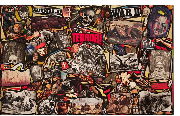 "Richard Saholt, ""World War II Terror!"" 44 x 28  inches"