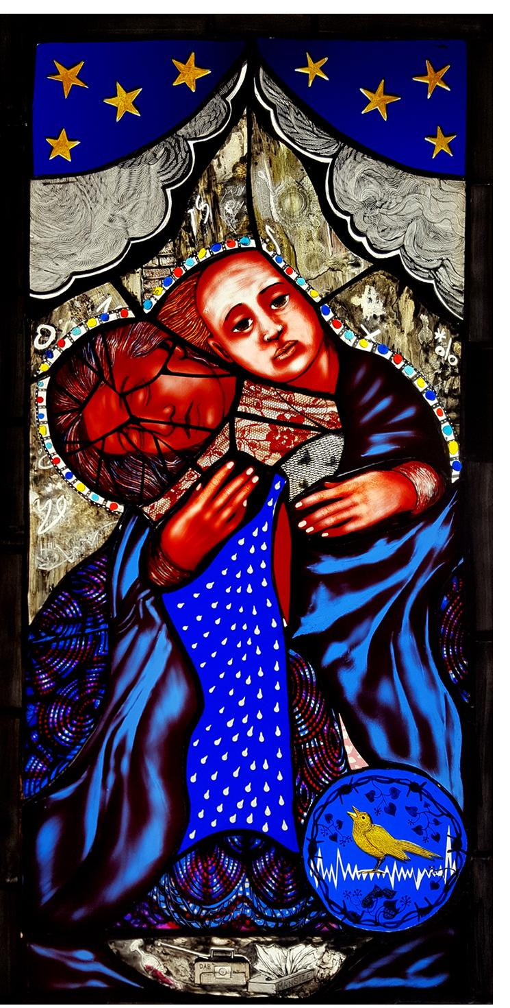 Pinkie Maclure:'The Good Cry', Stained Glass