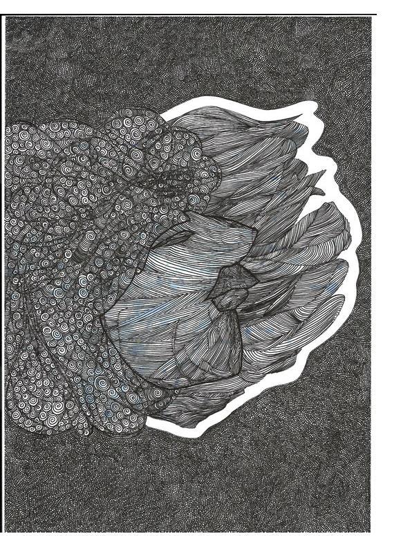 Benjamin Aaron : 'Untitled'  ink on paper  c.2008 - 10   8.25 x 11.75 ins