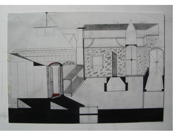 Albert - 'Untitled', 2007, 20 x 30 inches, ink on found paper - Outsider Art