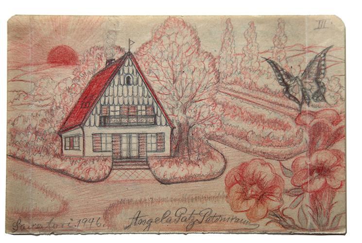 "Angelika - ""Butterfly (Schmetterling)"" -found paper  7.25 x 4.50 ins"