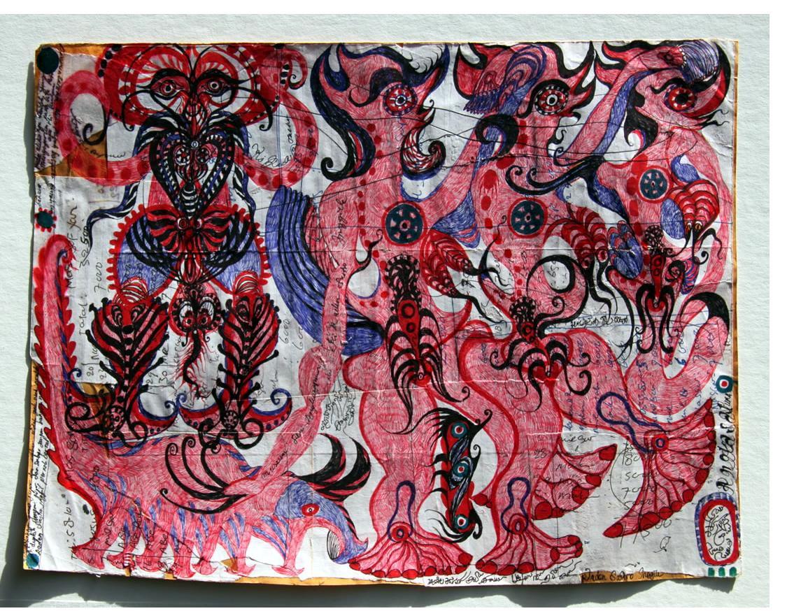 Angkasapura :'Untitled'  ink  11.5 x 8 ins