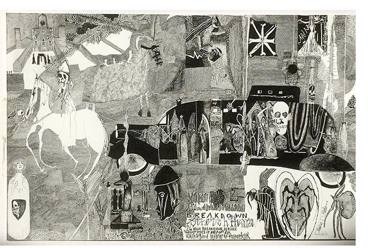 Nick Blinko, 'Untitled' 2018.   Ink. - 11.75 x 16.5 in