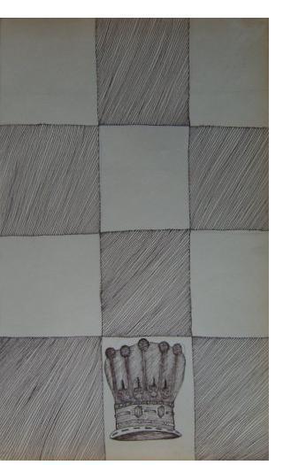 Nick Blinko - 'Queen's Gambit In Decline', 8.5 x 5 ins, ink on paper