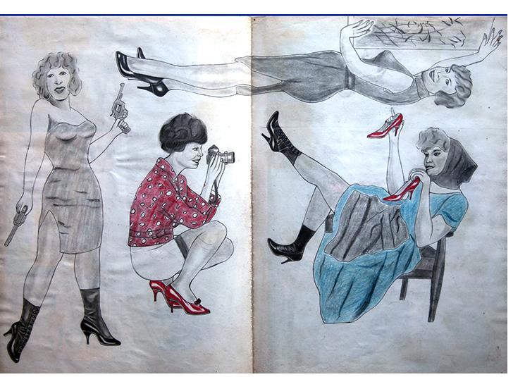 """Anon. Fetish Artist - """"Bond Girl"""" - 30 x 60cm"""