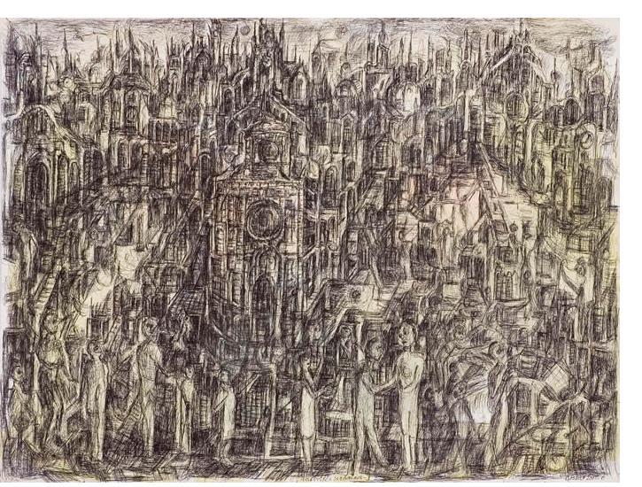 Herman Bossert - 'Untitled', 50 x 32.5 cm, crayon & pencil