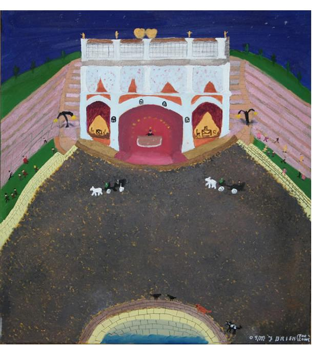 Michael Brien :'Hotel of Dreams' - 2009, oil and metallic paint on canvas
