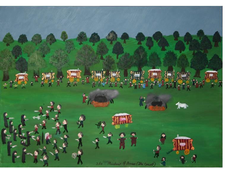 Michael Brien :'The Rescue of the Patriarch' - 2010, oil on canvas