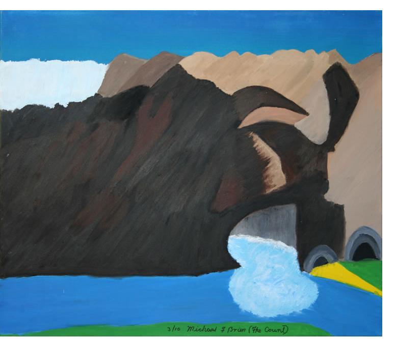 Michael Brien :'River Cave 2' - 2010, acrylic on canvas