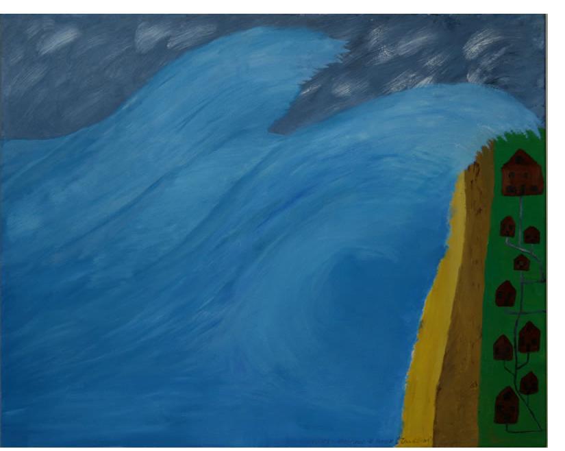 Michael Brien :'Tsunami' - 2008, oil on canvas