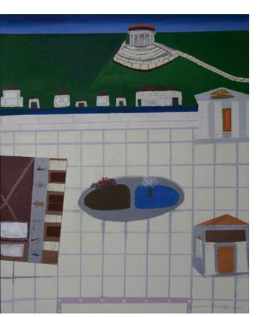 Michael Brien :'A Dream(The Water Tunnel)' - 2010, acrylic on canvas