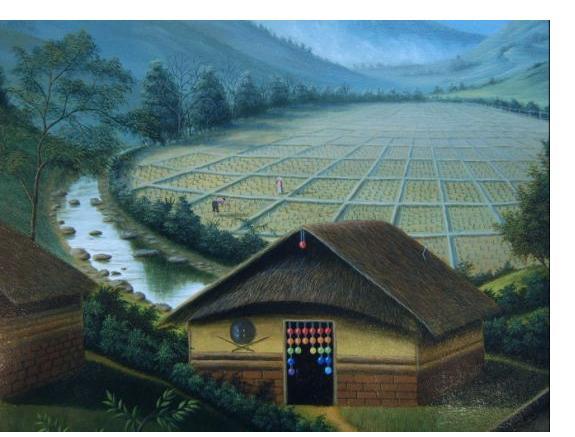 Wonshondro Buam :'Untitled'- 10 x 12 ins