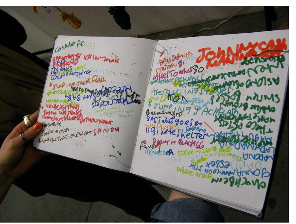 David Byrne :Notebook  c.2010 - 2012   mixed media