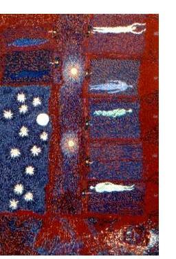 Rosemary Carson :'The Hospital Ward at Night' - Oil on board, 36 x 24 ins