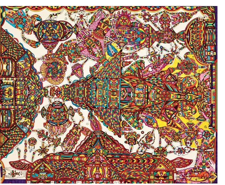 Johnny Culver :'Untitled' mixed media 24 x 34 ins
