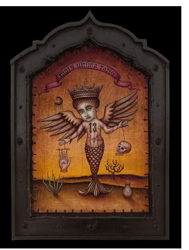 Daniel Martin Diaz :'Mystery In The Balance' - 15 x 10.5 ins