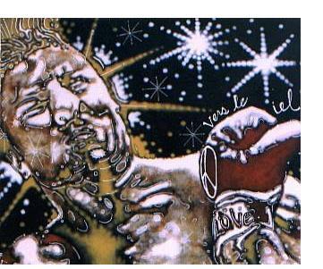 Gary Dobry:'Vers Le Ciel' - acrylic on linen, 30 x 40 ins