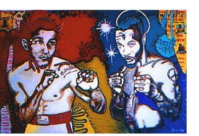 Gary Dobry:'Kingdom Come' - acrylic on canvas, 48 x 72 ins