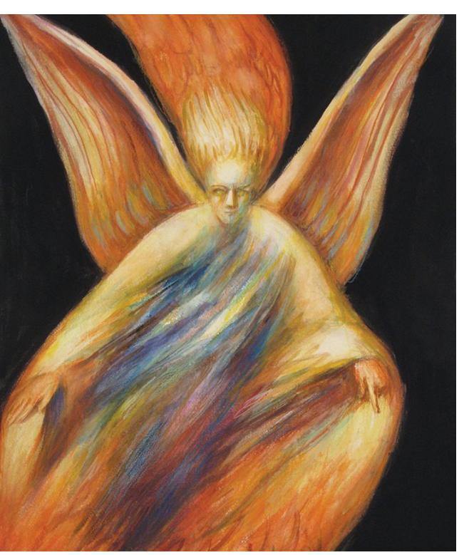 Donald Pass - 'Gabriel' c. 2005 watercolour  28 x 22 in