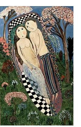 Dora Holzhandler :'Spring Lovers' - 1997, Oil on canvas, 100 x 70 cm