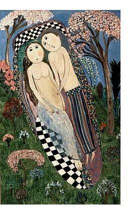 Dora Holzhandler :'Spring Lovers' - 1997, Oil on canvas, 100 x 70 cm