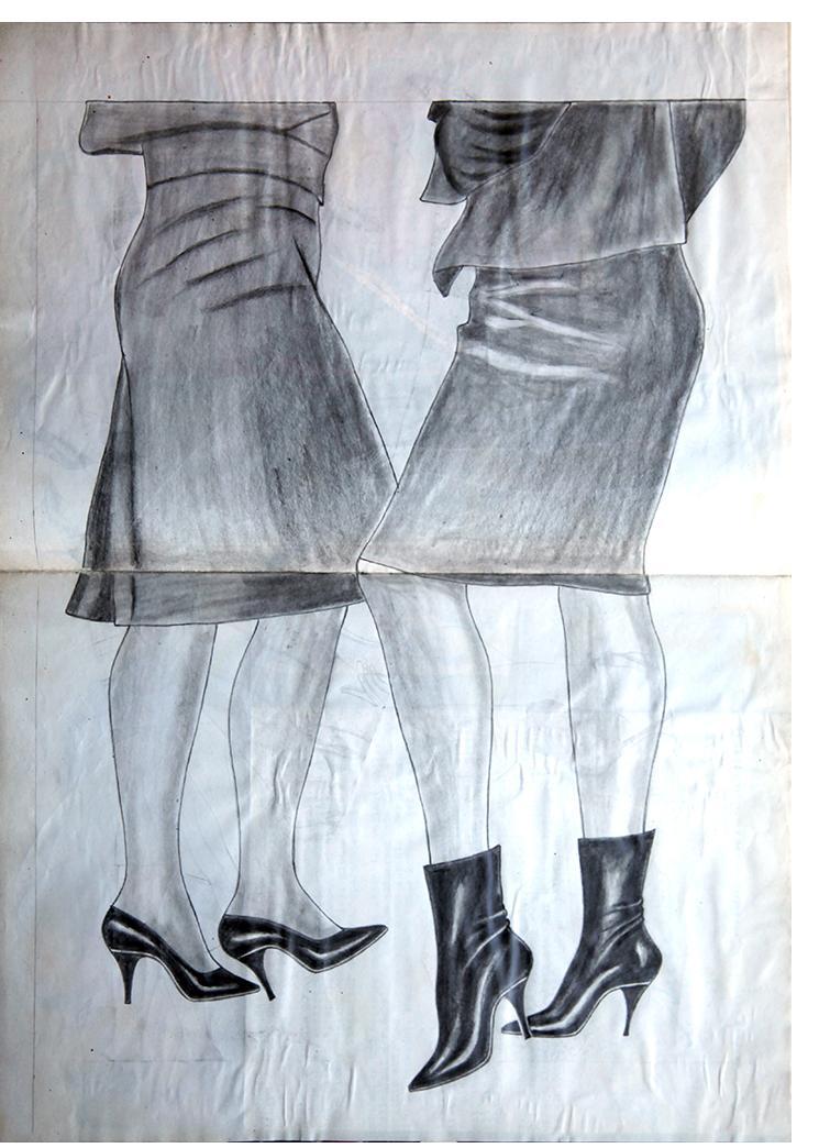 "Anon. Fetish Artist - ""Double Legs"" - 30 x 40cm"