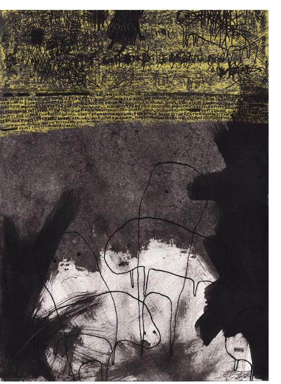 Alan Doyle 'Untitled' 2012, 8.3 x 5.9 ink and wax crayon on paper