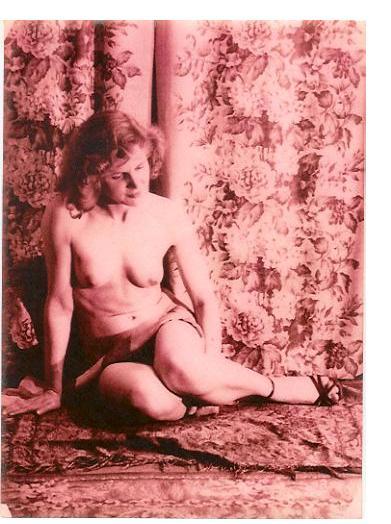 Eugene Von Bruenchenhein :'Marie' c.1960, gelatin silver print, 2.5 x 2.75 ins