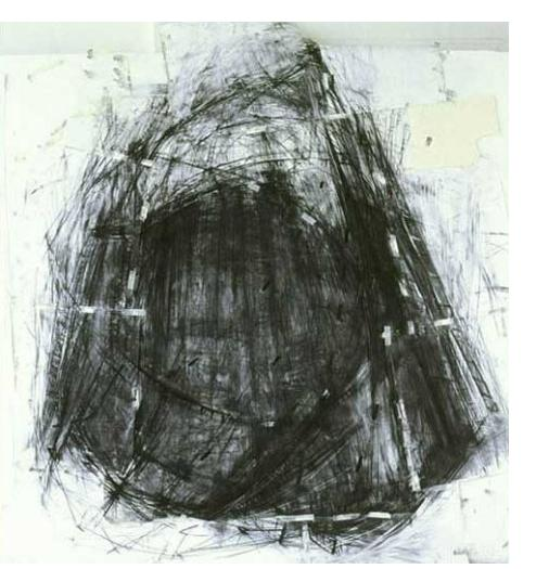 Alessia Avellino :'Gasometer 1', Charcoal on Paper, 240cm x 210cm / 8 x 7 ins
