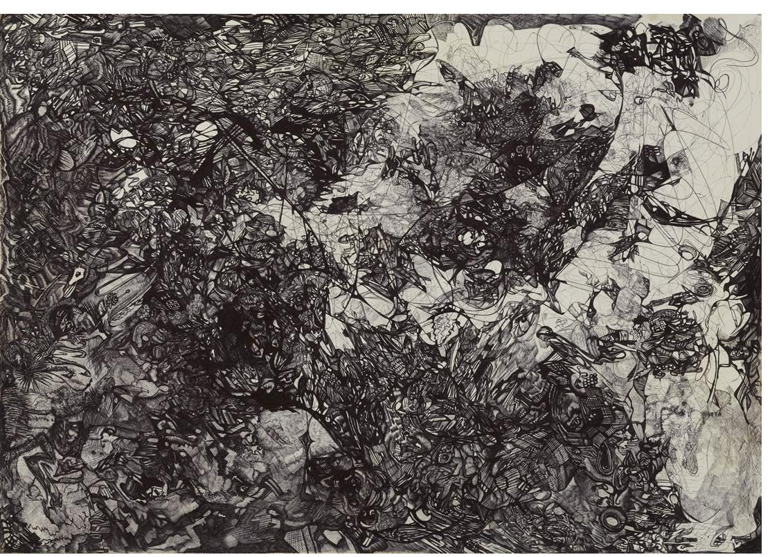 Michael Grobelny :'Untitled' 16 x 23ins - Outsider Art
