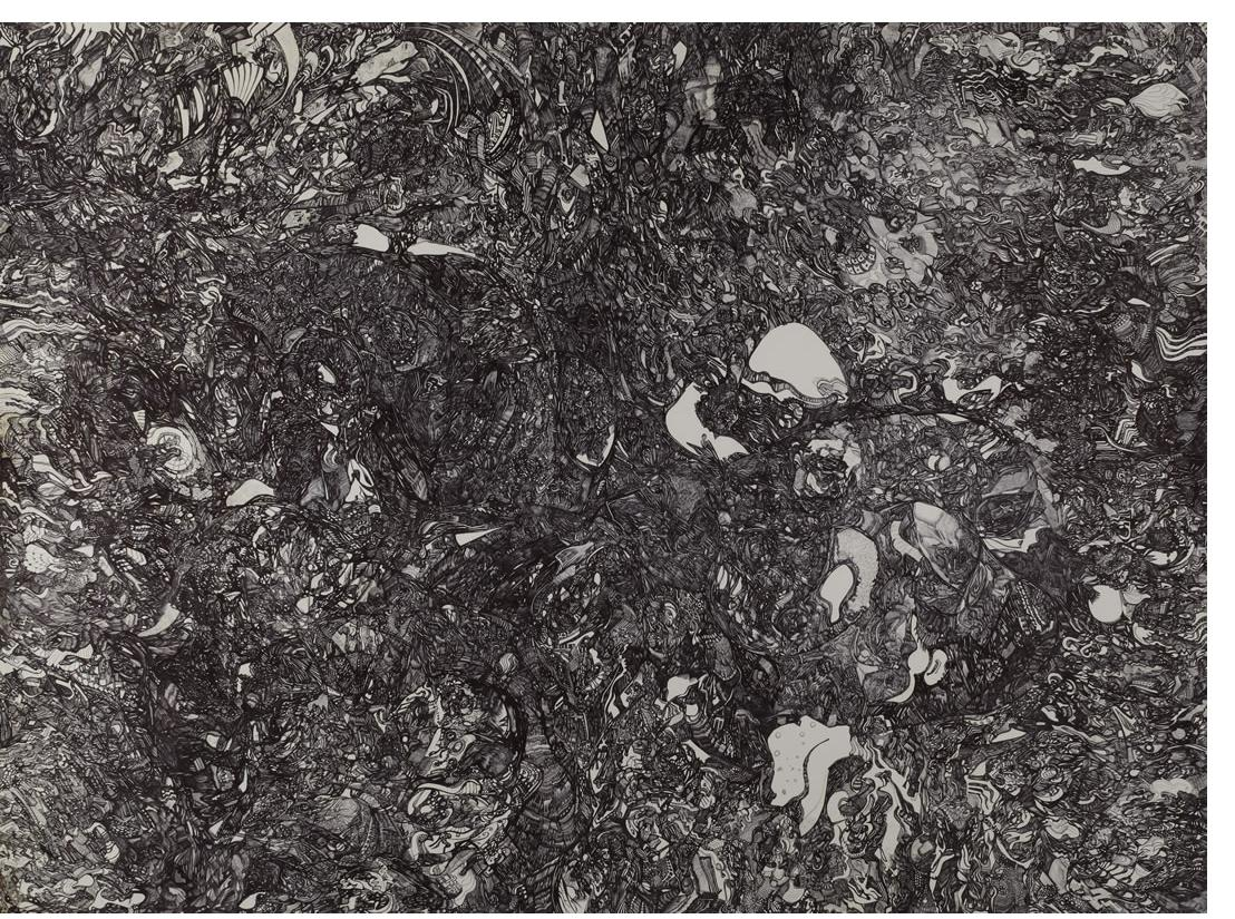 Michael Grobelny :'Untitled' 40 x 54ins - Outsider Art