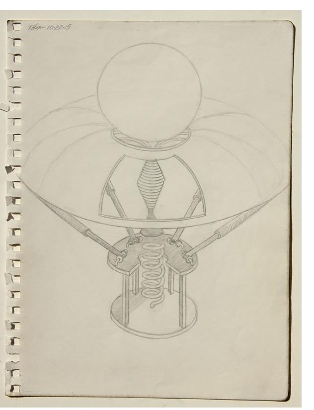 William A. Hall  'Invention Series' 2015  pencil  12 x 9 ins