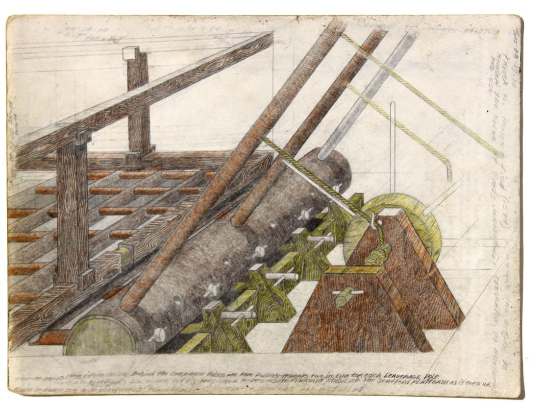 William A. Hall :'Invention Series' c.2010  pencil & crayon    11 x 14 ins