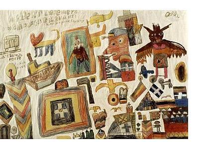 Herbert Liesenberg: 'Untitled' c.1984 - 87   mixed media   20 x 30 ins