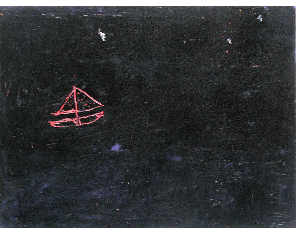 Stuart Hodkinson 'Untitled' c.1979  oil pastel on board  12 x 16 ins