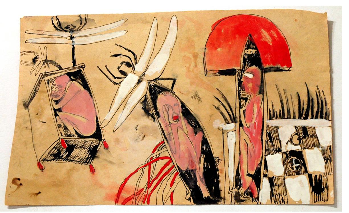 Foma Jaremtschuk :'Untitled' c.1950  ink & watercolour  30 x 40 cm