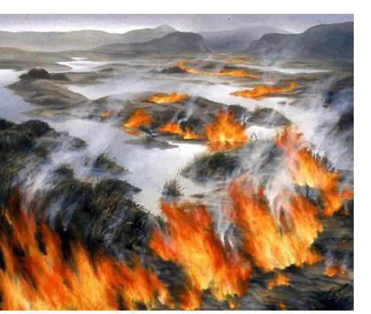 Pauline Jones :'Looking Back' - 101 x 117 cms - Visionary Art
