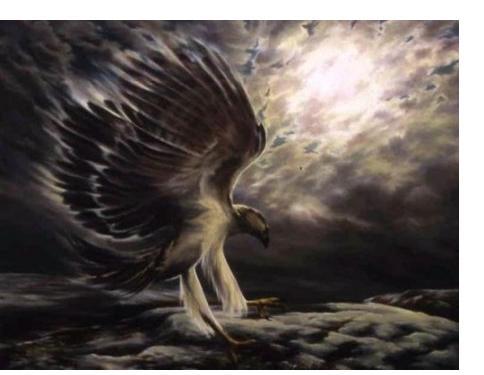 Pauline Jones :'Moonhunt' - 122 x 153 - Visionary Art