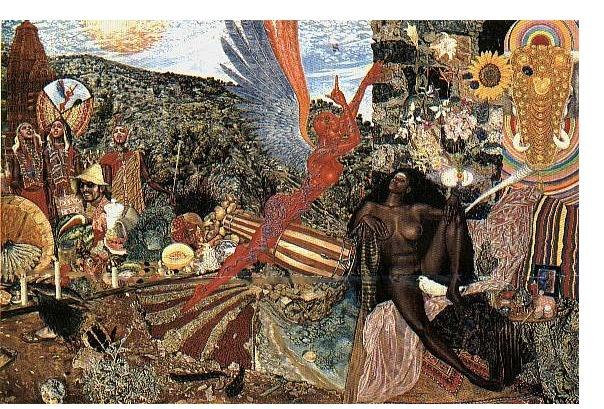 Mati Klarwein :'Annunciation' - 1962, acrylic on canvas, 130 x 97 cm