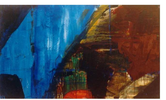 Simon Klein :'Blue Rinse' - 2001, oil on canvas, 50 x 36 ins