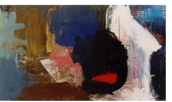 Simon Klein :'Untitled' - 2001, oil on canvas, 50 x 36 ins