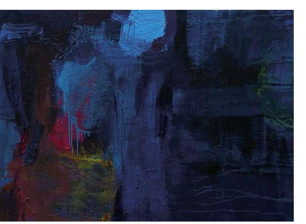Simon Klein :'Brother's Blue' - oil on canvas